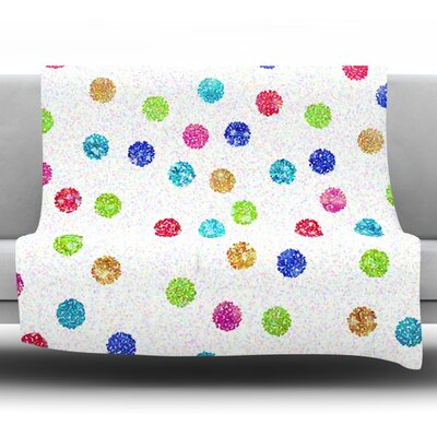 Seeing Dots by Beth Engel Fleece Throw Blanket Size: 80 x 60