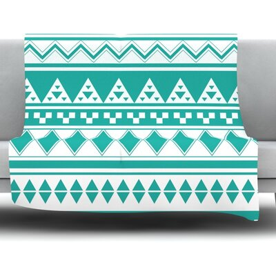 Aztec by Belinda Gillies Fleece Throw Blanket Size: 40 x 30
