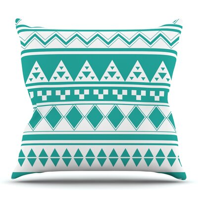 Aztec by Belinda Gillies Throw Pillow Size: 18 x 18
