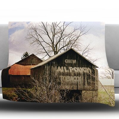 Mail Pouch Barn by Angie Turner Fleece Throw Blanket Size: 60 L x 50 W