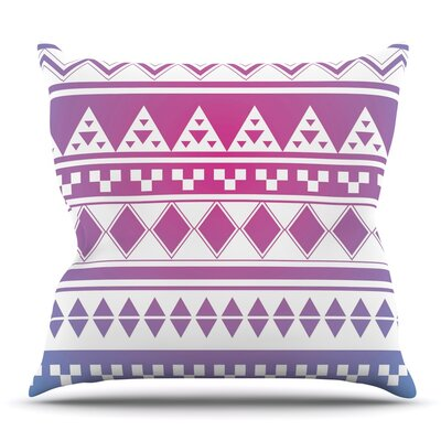 Rainbow Aztec by Belinda Gillies Throw Pillow Size: 18 x 18