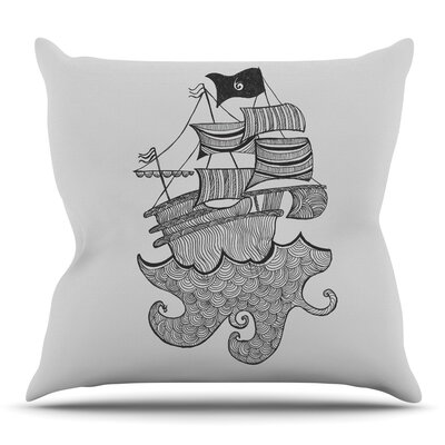 Ships Ahoy by Belinda Gillies Throw Pillow Size: 16 x 16