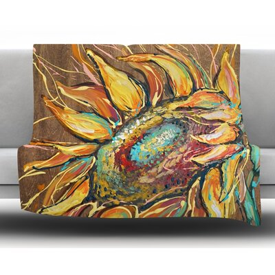 Sunflower by Brienne Jepkema Fleece Throw Blanket Size: 40 x 30
