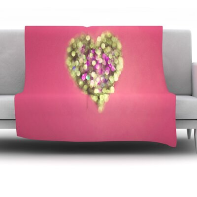 Make Your Love Sparkle by Beth Engel Fleece Throw Blanket Size: 60 x 50