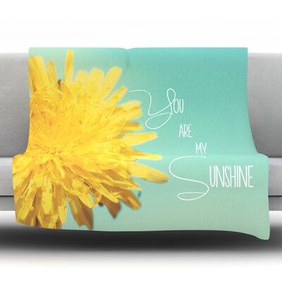 You Are My Sunshine by Beth Engel Fleece Throw Blanket Size: 80 L x 60 W