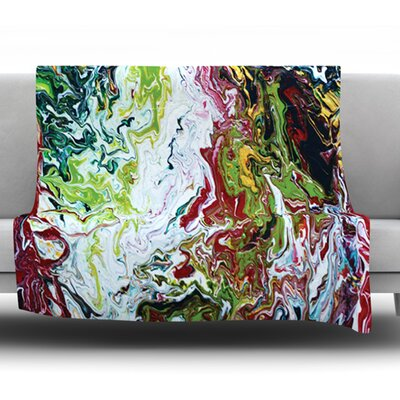 Chaos by Claire Day Fleece Throw Blanket Size: 60 x 50