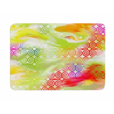 Locked Rams Horns by Dan Sekanwagi Memory Foam Bath Mat