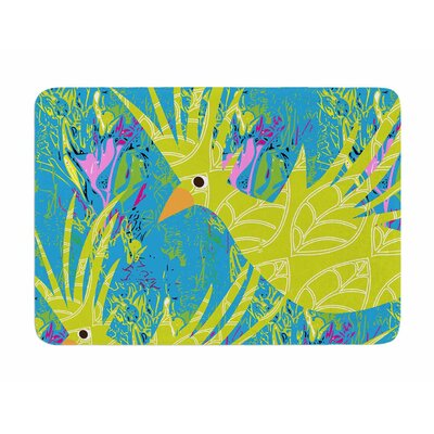 Tropical Fly-by by Patternmuse Memory Foam Bath Mat