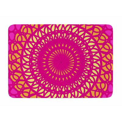 Radiant Pomegranate by Patternmuse Memory Foam Bath Mat