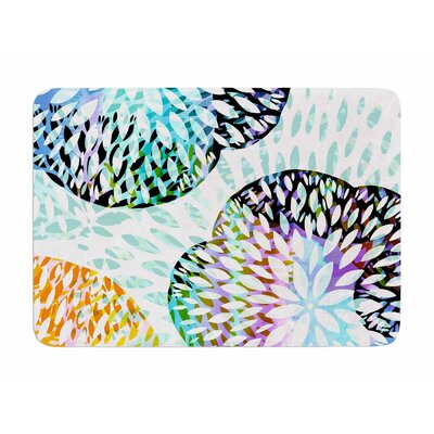 Tropical Flora by Jessica Wilde Memory Foam Bath Mat