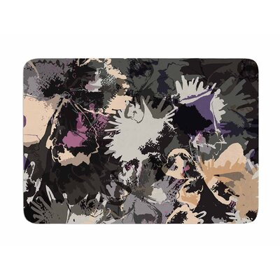 Punk Floral by Jessica Wilde Memory Foam Bath Mat