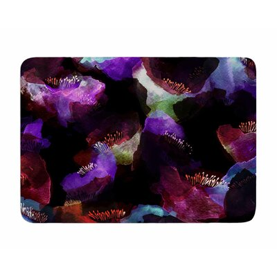 Watercolour Poppy by Jessica Wilde Memory Foam Bath Mat