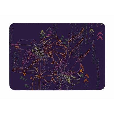 Hibiscus by Karina Edde Memory Foam Bath Mat
