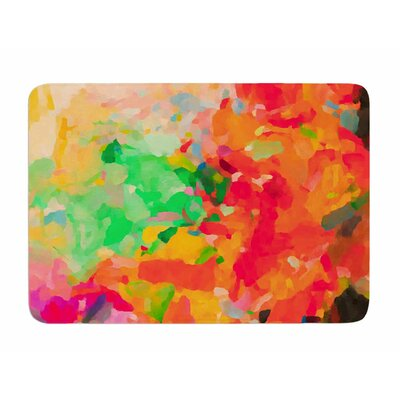 La Rochelle-Abstract by Oriana Cordero Memory Foam Bath Mat