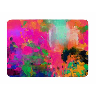 Montesilvano-Abstract by Oriana Cordero Memory Foam Bath Mat