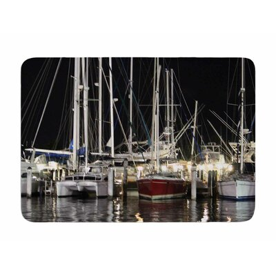 Dinner Key Marina by Philip Brown Memory Foam Bath Mat