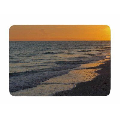 Sunset Beach by Philip Brown Memory Foam Bath Mat