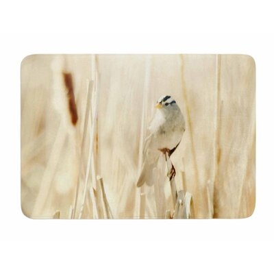 Bird in Ethereal Light by Sylvia Comes Memory Foam Bath Mat