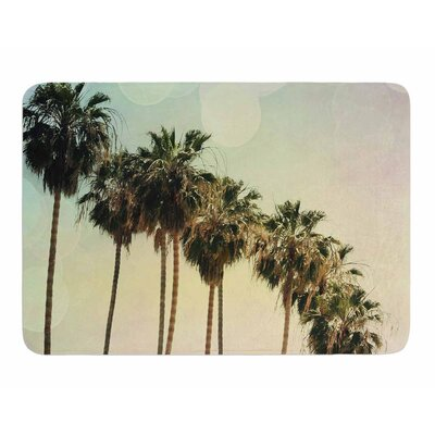 Palm Trees by Sylvia Comes Memory Foam Bath Mat