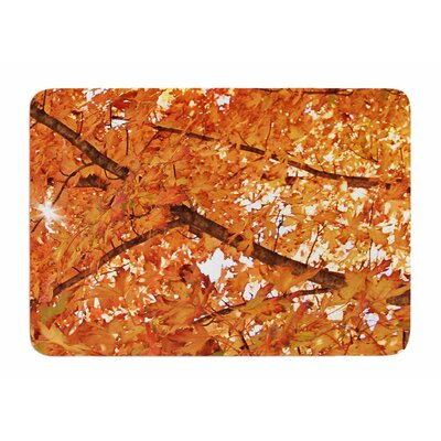 Fall Foliage by Sylvia Comes Memory Foam Bath Mat