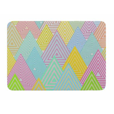 Pastel Mountains by Angelo Carantola Memory Foam Bath Mat