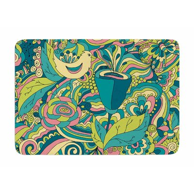 Birds in garden by Alisa Drukman Memory Foam Bath Mat