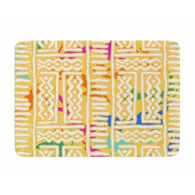 Lines and Zigzags - Colorful by Dan Sekanwagi Memory Foam Bath Mat