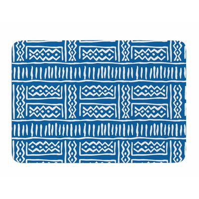 Lines and Zigzags by Dan Sekanwagi Memory Foam Bath Mat