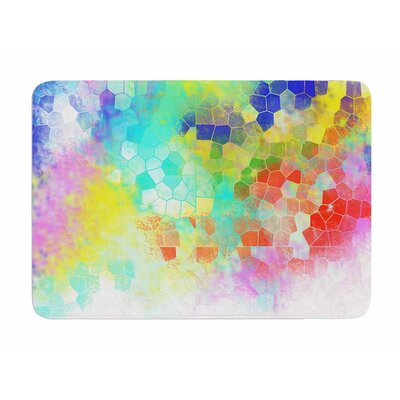 Color Structure by Dan Sekanwagi Memory Foam Bath Mat