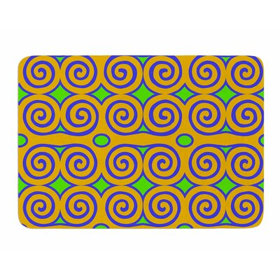 Locked Rams Horns-Clear Day by Dan Sekanwagi Memory Foam Bath Mat