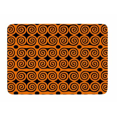 Locked Rams Horns -Contra by Dan Sekanwagi Memory Foam Bath Mat