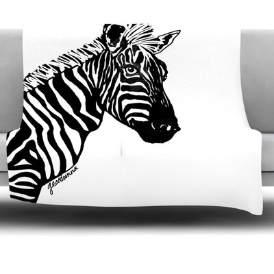 My Zebra Head Fleece Throw Blanket Size: 80 L x 60 W