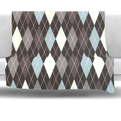 Argyle Fleece Throw Blanket Size: 90 L x 90 W