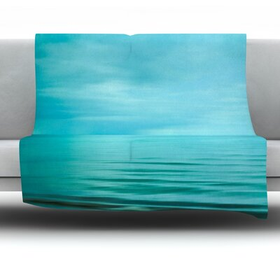 Calm Sea Fleece Throw Blanket Size: 60 L x 50 W