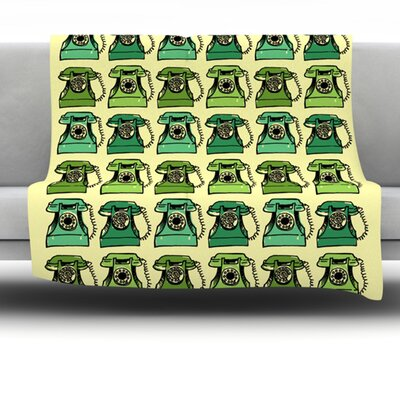 Telephone Fleece Throw Blanket Size: 60 L x 50 W