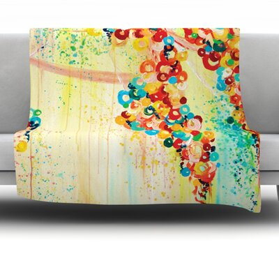 Summer in Bloom Fleece Throw Blanket Size: 60 L x 50 W
