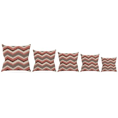 Fuzzy Chevron Throw Pillow Size: 18 H x 18 W x 3 D