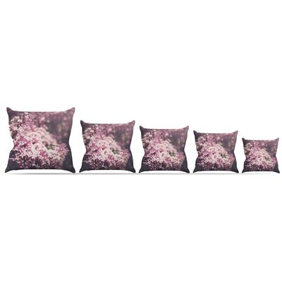 Lilacs Throw Pillow Size: 20 H x 20 W x 4 D