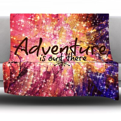 Adventure is Out There Fleece Throw Blanket Size: 60 L x 50 W