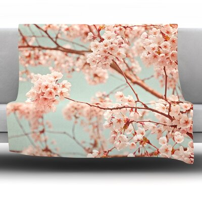 Blossoms All Over Fleece Throw Blanket Size: 40 L x 30 W