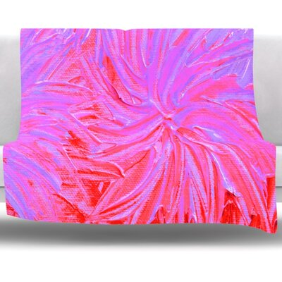 Water Flowers Crimson Lilac Fleece Throw Blanket Size: 40 L x 30 W