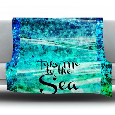Take Me to the Sea Fleece Throw Blanket Size: 60 L x 50 W