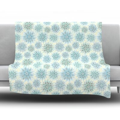 My Delicate Flowers Fleece Throw Blanket Size: 60 L x 50 W