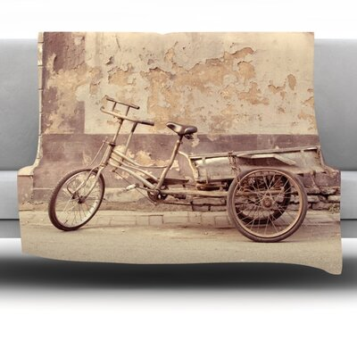 The Bicycle Fleece Throw Blanket Size: 40 L x 30 W