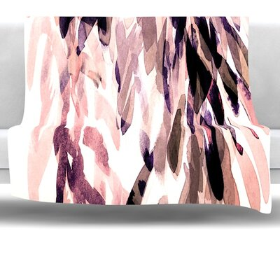 Abstract Leaves II Fleece Throw Blanket Size: 40 L x 30 W