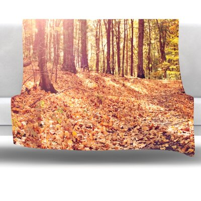 Autumn Hike Fleece Throw Blanket Size: 80 L x 60 W