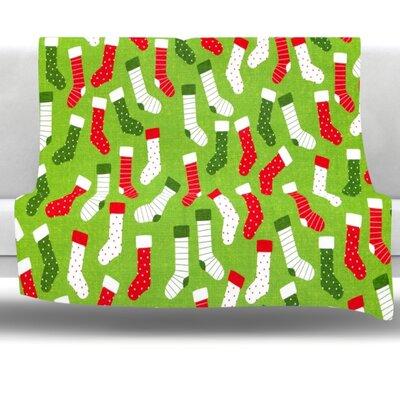 Stocking Season Fleece Throw Blanket Size: 80 L x 60 W