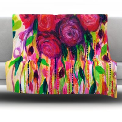 Roses Are Red Fleece Throw Blanket Size: 60 L x 50 W