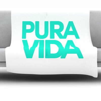 Pura Vida Fleece Throw Blanket Size: 60 L x 50 W