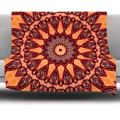 Colors of Africa Fleece Throw Blanket Size: 40 L x 30 W